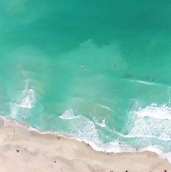 Dubai beach overhead